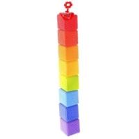 Кубики Радуга в сетке 8 деталей